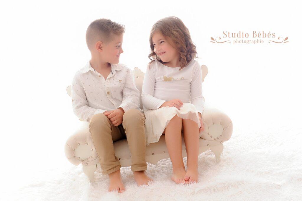 Deux enfants Portrait Photo